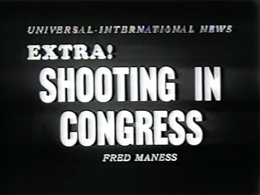 Newsreel Footage of the 1954 Shooting in the House Chamber