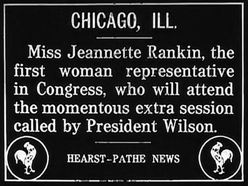 Representative-elect Jeannette Rankin of Montana