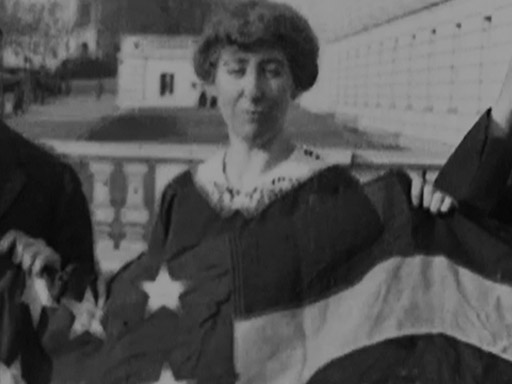 Representative Jeannette Rankin Given a U.S. Flag
